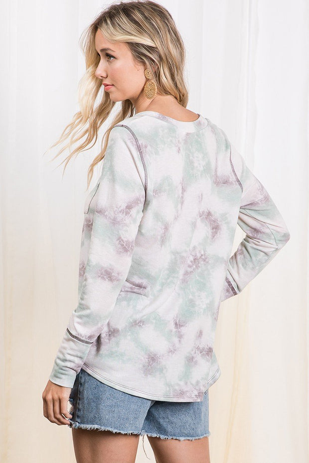 Need You Mint Mocha Tie-Dye Tee