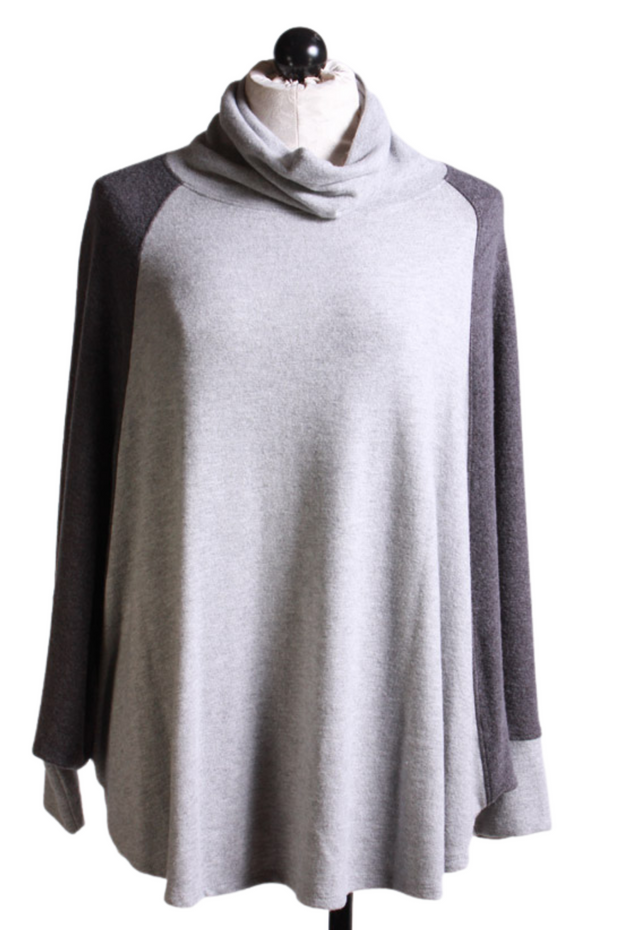 Colorblock Cowlneck Top-Nally and Millie