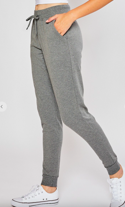 Cuddle Queen Heather Grey Joggers