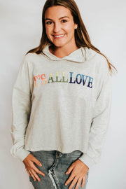 Its All About Love Hooded Sweat Shirt