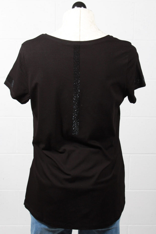 Tricotto Strawberry T Shirt Black