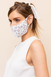 Leopard Face Mask // Pink