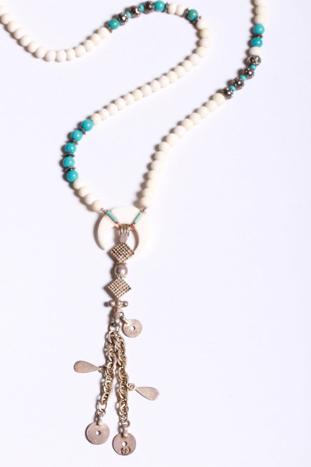 Beaded Tassel Necklace-Chan Luu