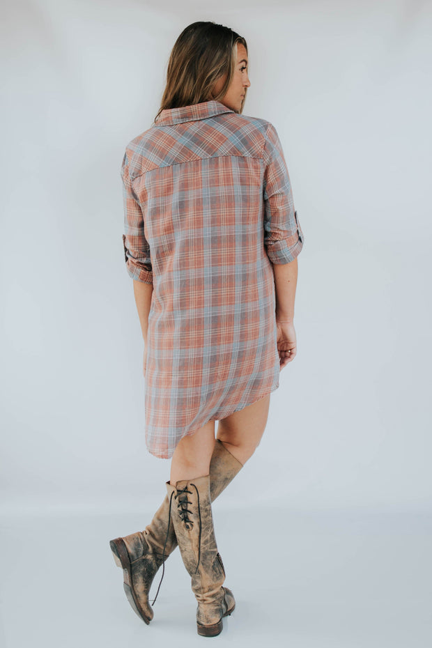 Lightweight Flannel Button Up Top