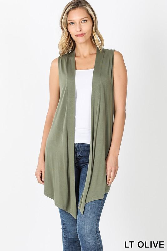 Invest in Yourself Lt. Olive Sleeveless Cardi