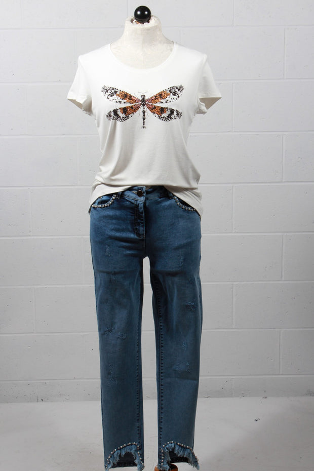Tricotto Dragonfly T Shirt Ivory