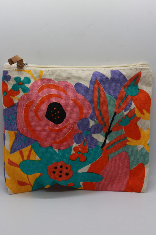 Twos Company Set of Flower Market Cosmetic Bags