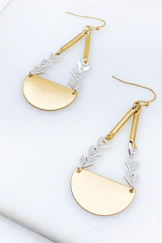 Chevron Chain Earrings-Final Sale