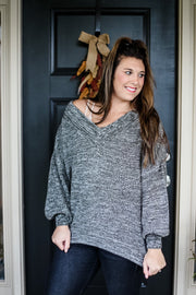 DARK OLIVE DEEP VNECK SWEATER