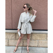 Utility Belted Romper
