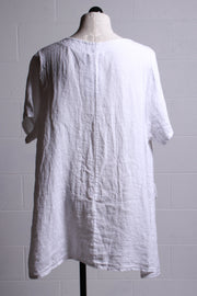 Tempo Paris Linen Pocket Tunic White 1905A
