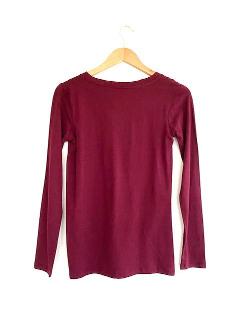 The Loungy Tee in Dark Burgundy