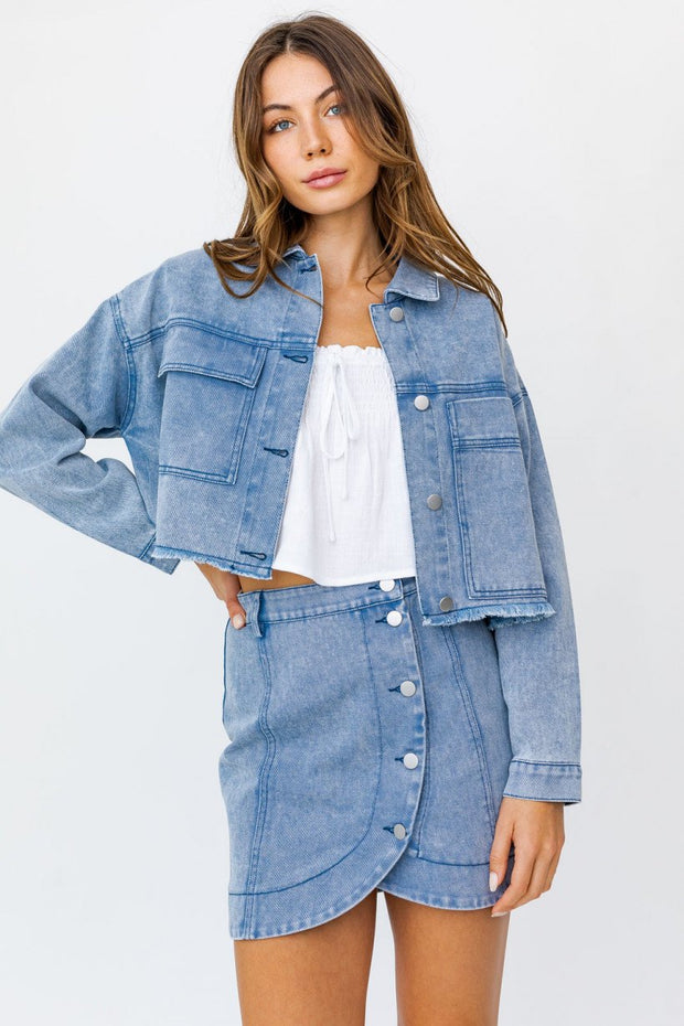 In The Mix Oversized Denim Jacket
