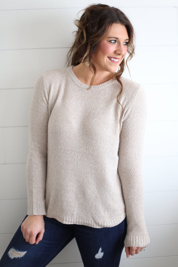 OATMEAL BOATNECK SWEATER