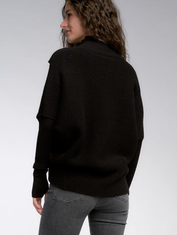 Cross Front Sweater - Black