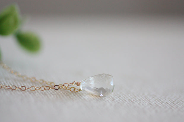 Crystal Tears Handmade Tear Drop Gem Necklace