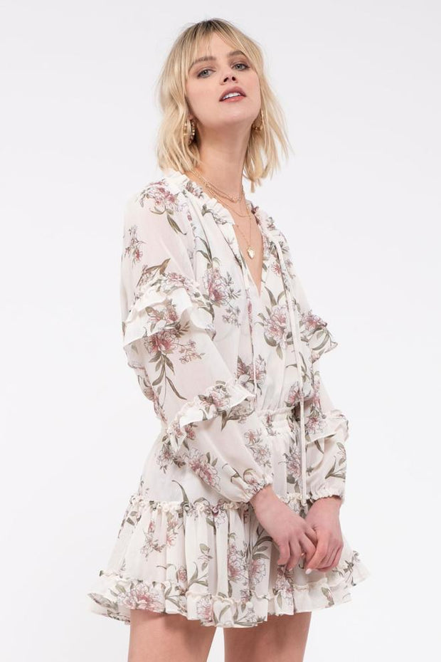 Beauty Icon Ruffle Floral Dress