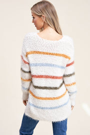 Feeling Fine Fuzzy Stripe Sweater