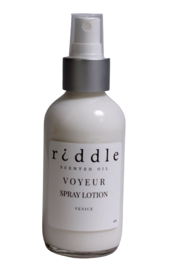 Riddle Oil Voyeur Spray Lotion