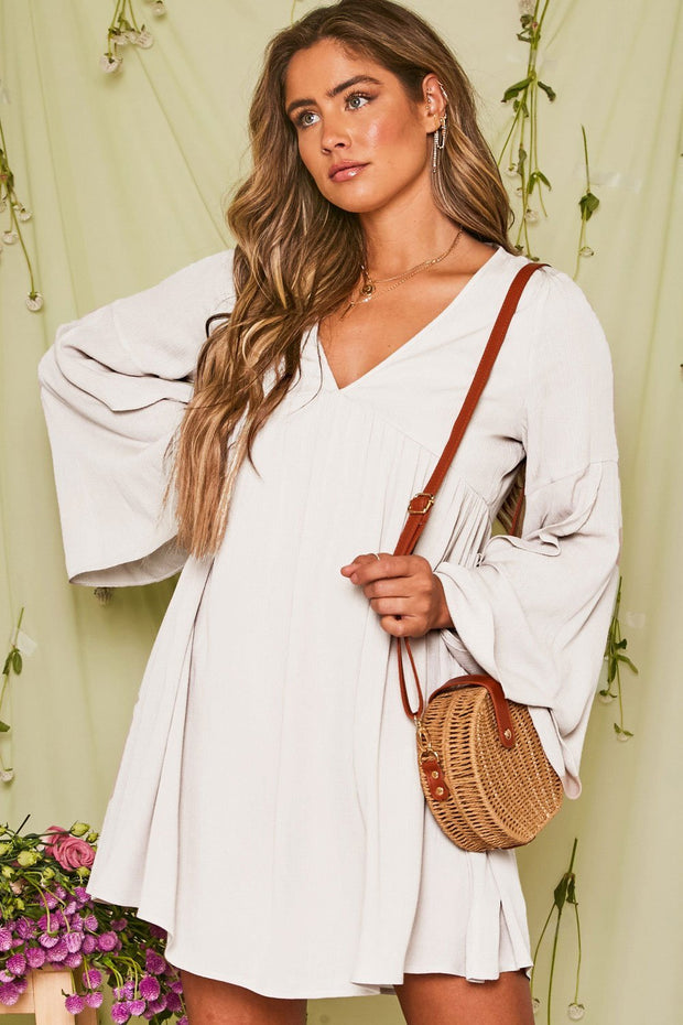 Dream Baby Bell Sleeve Dress // Ivory