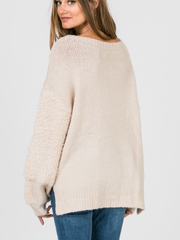 Fabric Blocking Sweater-Final Sale
