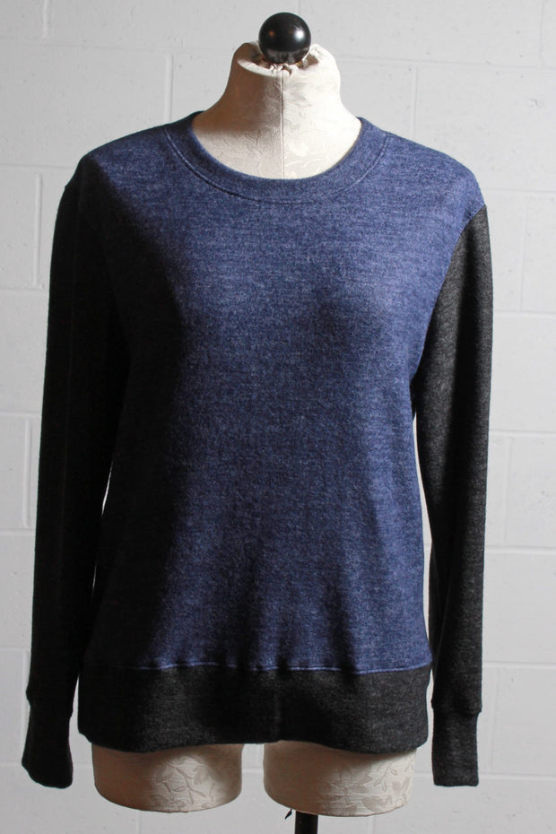 Nally and Millie Colored Block Brushed Top Navy F272519