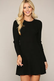 Take Me to the Top Black Long Sleeve Dress