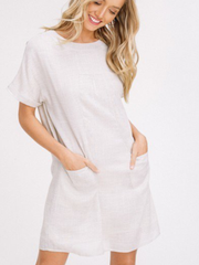 Linen Shift Dress-Final Sale