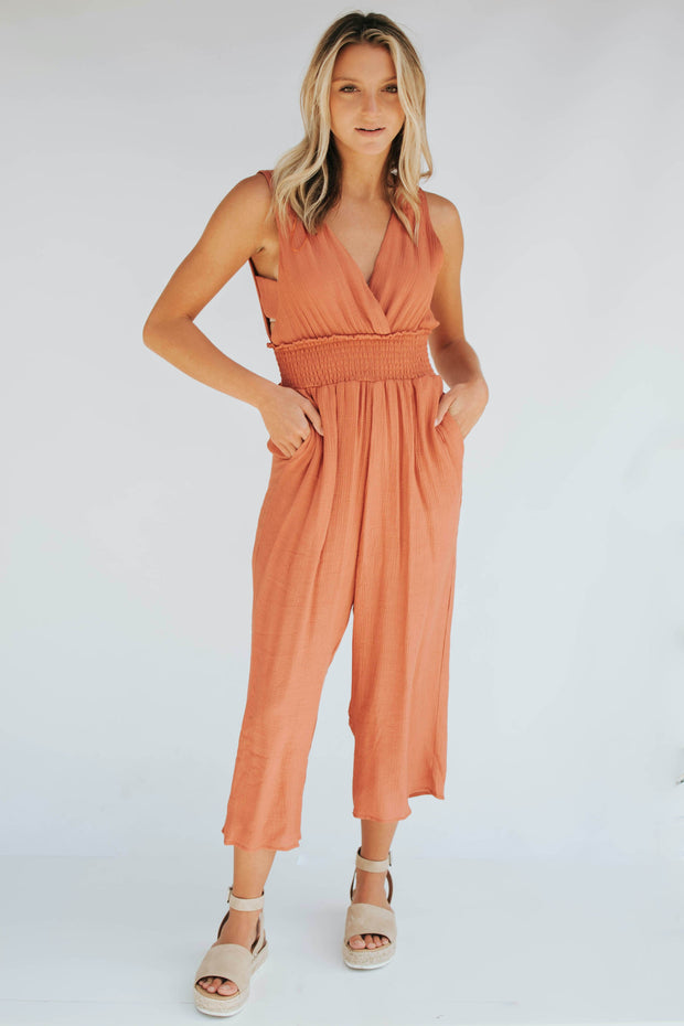 Orange Rust Jumpsuit