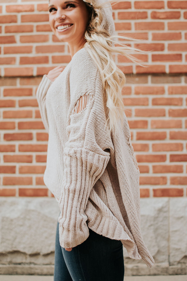 Chenille Ripped Sweater
