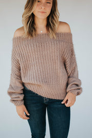 Off The Shoulder Soft Sweater