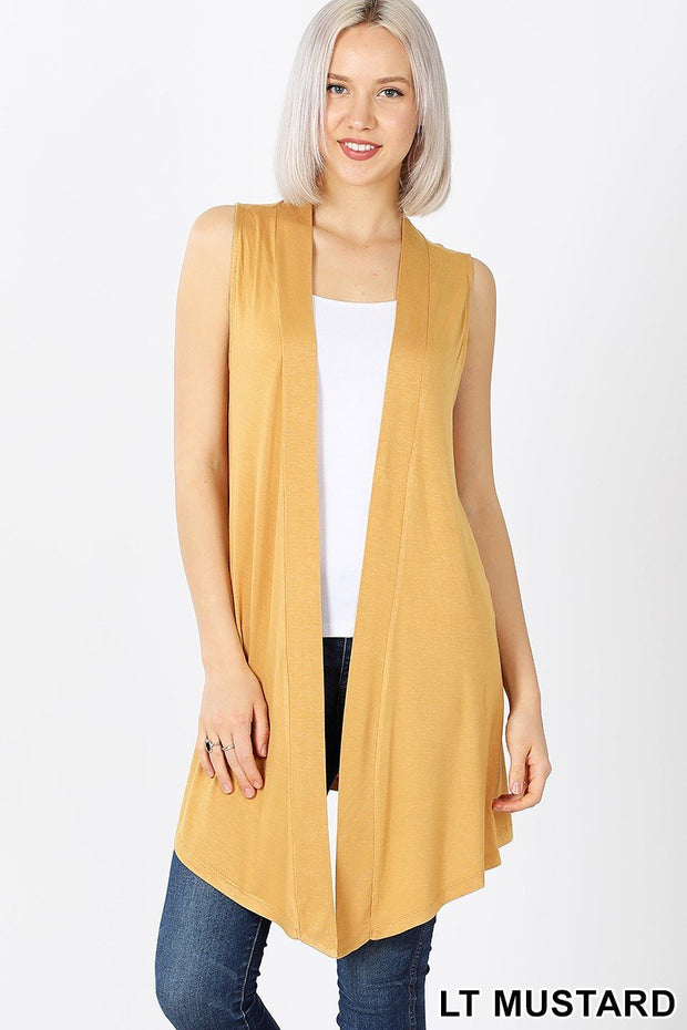 Invest in Yourself Lt. Mustard Sleeveless Cardi