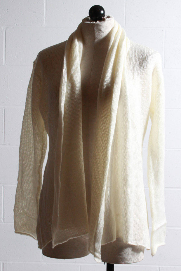 Wooden Ships Lightweight Wrap Cardigan Luffing White K44Y5W657