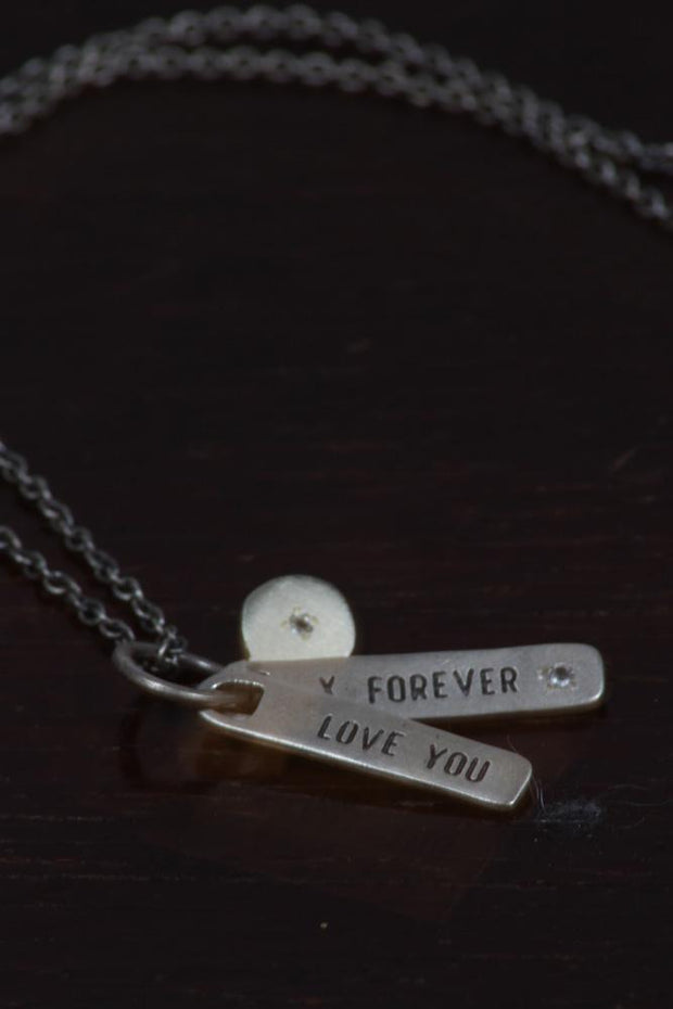 SugarBoo Designs Love You Forever Tag Style Necklace SJ105