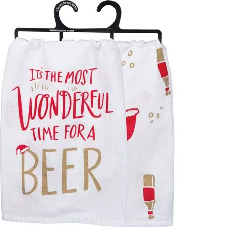 The Most Wonderful Time Dish Towel