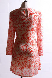 Compania Fantastica Polka Dot Tie Front Dress Red SP20SHE20