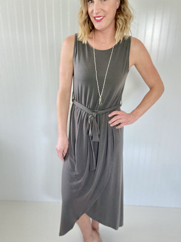 Everything You Need Ash Grey Dress