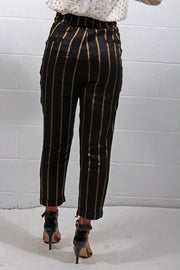 The Korner Yves Pants Black Gold