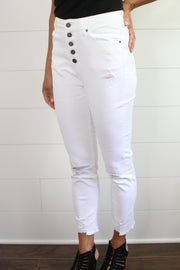 KANCAN JEANS (WHITE DISTRESSED)