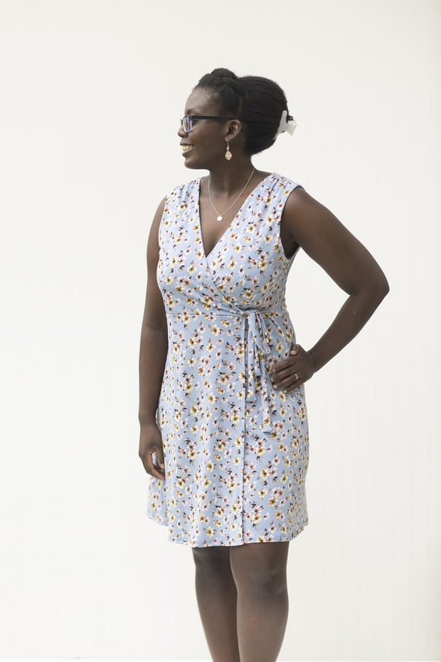 Head in the Clouds Sky Blue Floral Dress