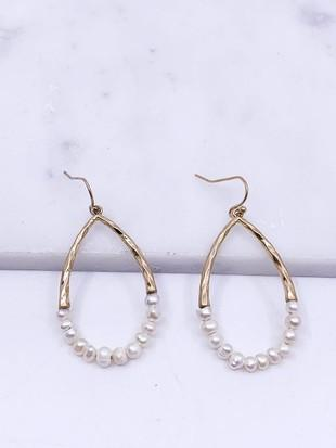 Pearl Teardrop Earrings-Final Sale