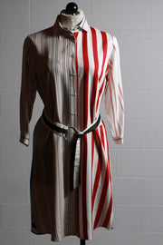 Vilagallo Dover Dress Red Stripes 27274