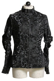 UBU Black Camo Ruched Sleeve Jacket