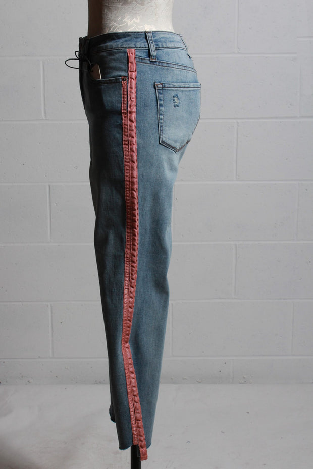 Velvet Heart Maven Striped Jean Vintage Rose DBL-1612
