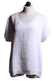 Tempo Paris Metallic Trim Shirt White 782E