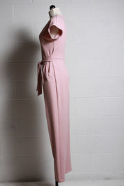 Blush V Neck Jumpsuit-Frank Lyman