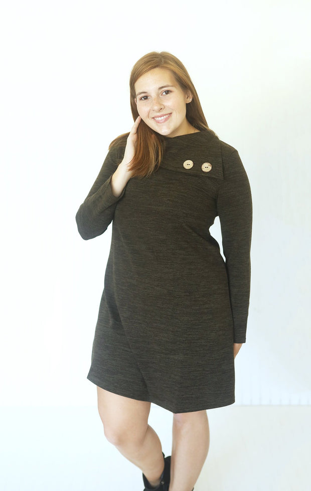 Now You Know Deep Olive Knit Dress