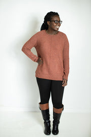 Thinking Out Loud Rust Sweater
