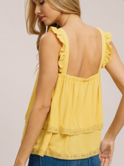 Ruffle Strap Top-Final Sale
