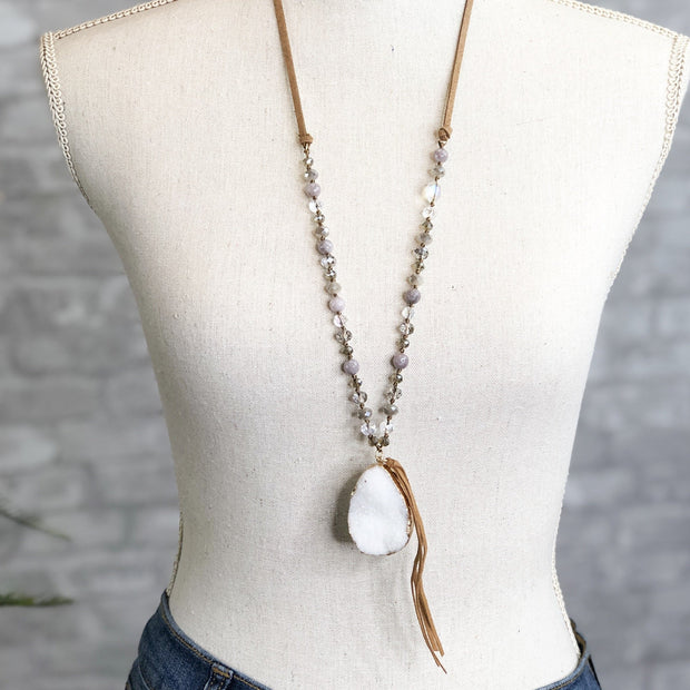 Mix Mercantile Designs - Evan Necklace - White